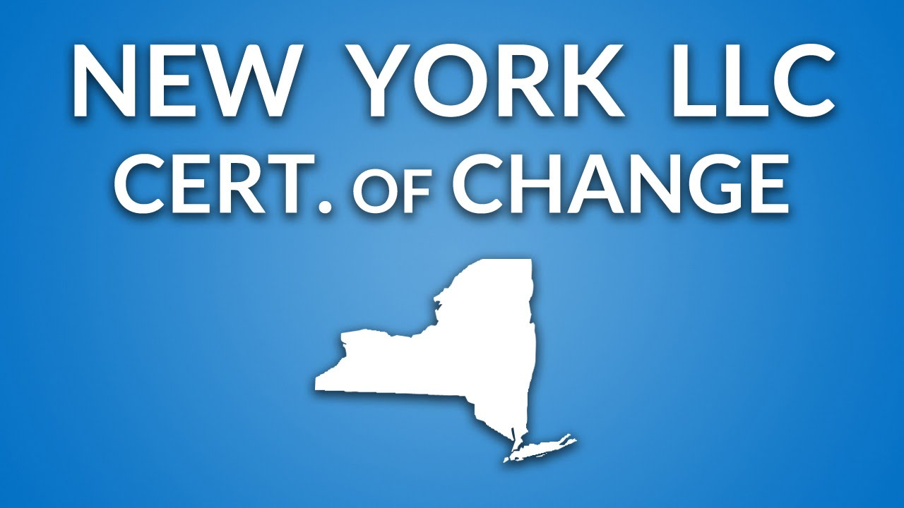 New York Llc Certificate Of Change Youtube