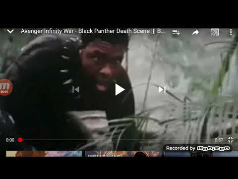 Black Panther Death Scene Youtube