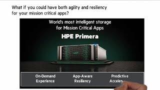 HPE Primera - Intelligent storage for mission-critical apps | Chalk Talk