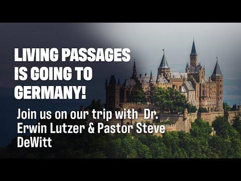 Germany Reformation Tour 2020 | Dr  Erwin Lutzer & Pastor Steve DeWitt