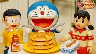 Nobita and Doraemon are surprised! Delicious hot cake made by shizuka / のび太くんも驚いた!しずかちゃんの絶品ホットケーキ