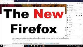New Mozilla Firefox Quantum: First Impression