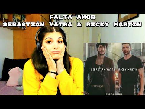 REACCIÓN: FALTA AMOR - SEBASTIÁN YATRA Y RICKY MARTIN| Cristina Black & White