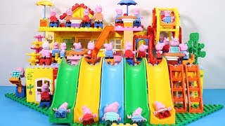Peppa Pig House Creations With Water Slide Toys   Lego House Toys For Kids #6