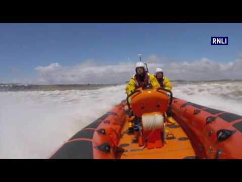 Porthcawl RNLI launch to windsurfer in distress off Llantwit Major beach