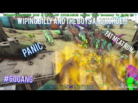 ARK OFFICIAL PVP WIPING HORDE AND BILLY AND THE BOYS!!