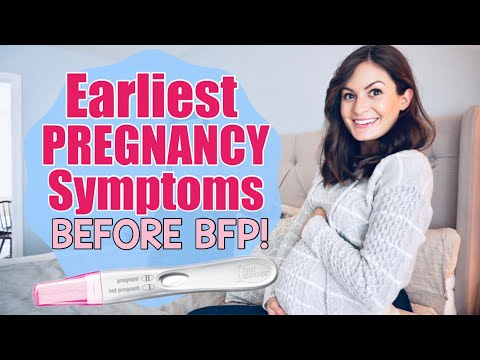 EARLY PREGNANCY SYMPTOMS 0-4 WEEKS | EARLIEST SIGNS YOU ARE PREGNANT BEFORE BFP! | BRITTANY BANTER