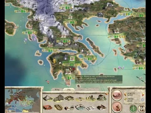 Rome Total War Map Version YouTube - Rome total war map city locations