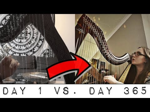 Adult beginner - one year harp progress