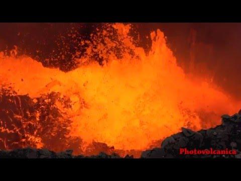 Masaya volcano lava lake eruptions (Volcan Masaya). Timelapse, HD, 4K, Slow Motion video