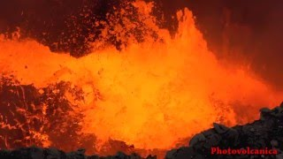 Masaya volcano lava lake eruptions (Volcan Masaya). Timelapse, HD, 4K, Slow Motion video