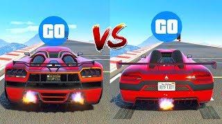 COCHE VIEJO vs COCHE *NUEVO* ¿Cual es Mas RÁPIDO? TEST de VELOCIDAD GTA V Online