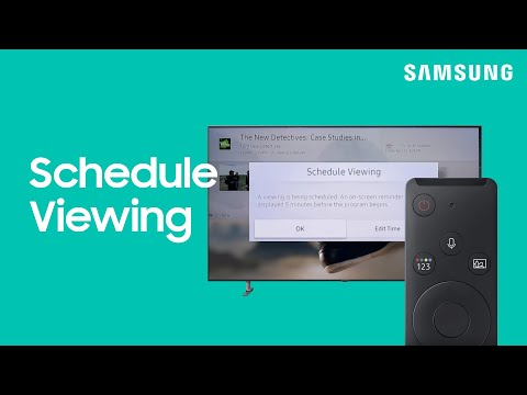 How To Use Schedule Viewing For TV Shows | Samsung US