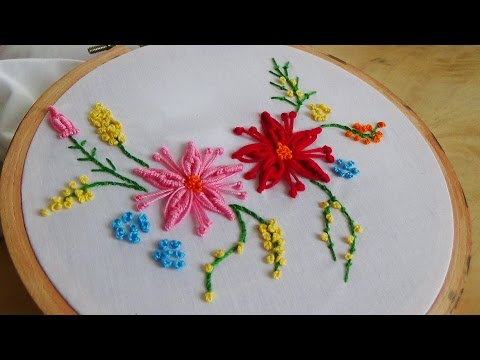 Hand Embroidery: Bullion flower stitch