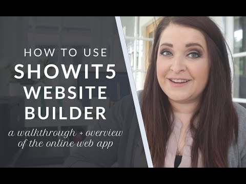 Showit 5 - An Overview and How to Use the Online Web Appication