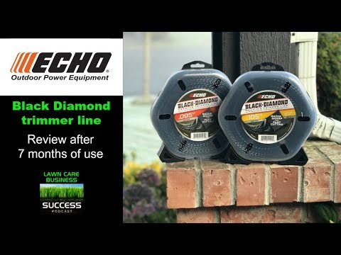 Echo Black Diamond trimmer line review after 7 months of use - both .095 and .105 sizes