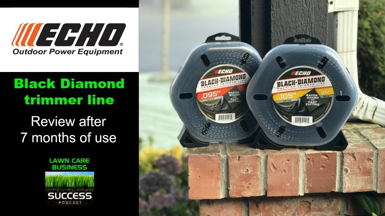 Echo Black Diamond Trimmer Line Review After 7 Months Of Use Both 095 And 105 Sizes Lawn Care Business Success