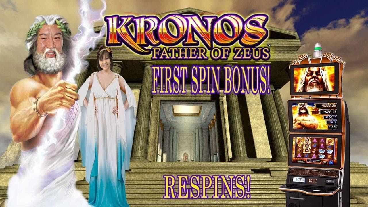 First Spin Bonus Kronos Father Of Zeus Slot Machine Youtube