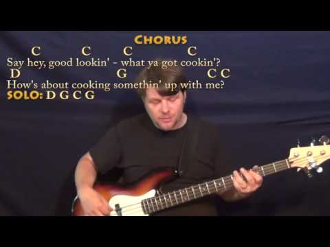 Hey Good Lookin' (Hank Williams) Bass Guitar Cover Lesson in C with Chords/Lyrics
