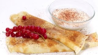 Redcurrant Sauce For Pancake, Recipe With Cocoa Powder And Crème Fraîche