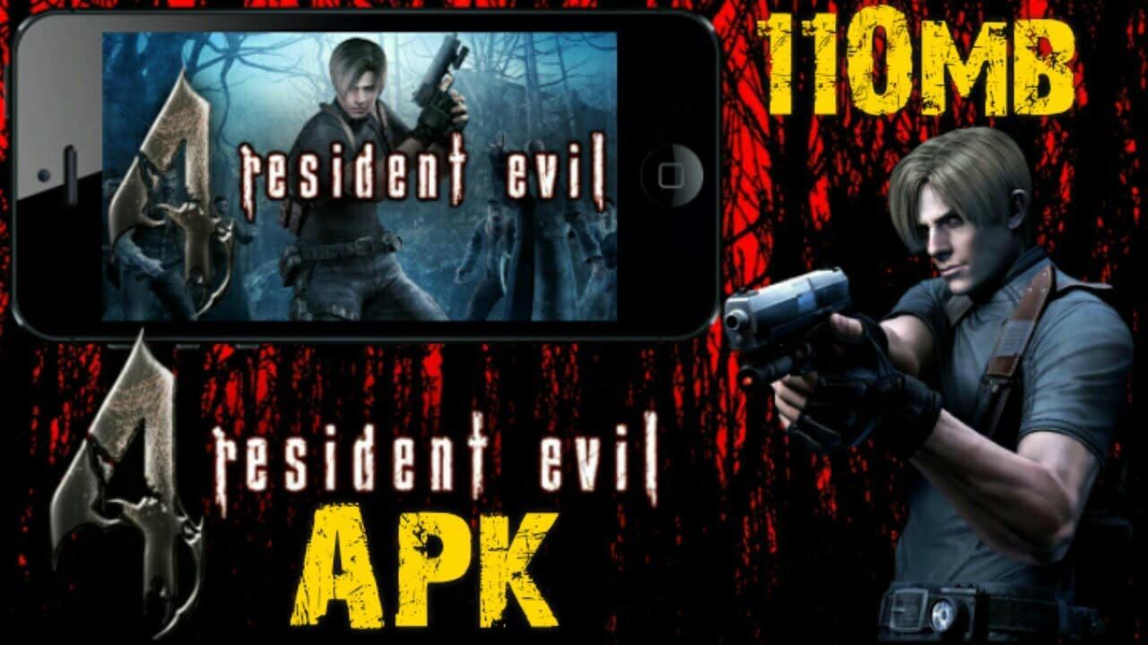 Download Resident Evil 4 apk English Version 110mb only
