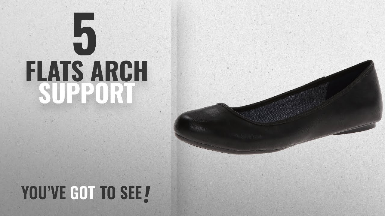 e223b33d50 Top 5 Flats Arch Support [2018]: Dr. Scholl's Women's Friendly Ballet Flat  Friendly,BLKSMOOTH,9 W