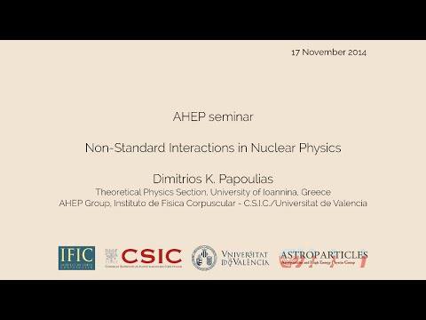 Dimitrios Papoulias: Non-Standard Interactions in Nuclear Physics