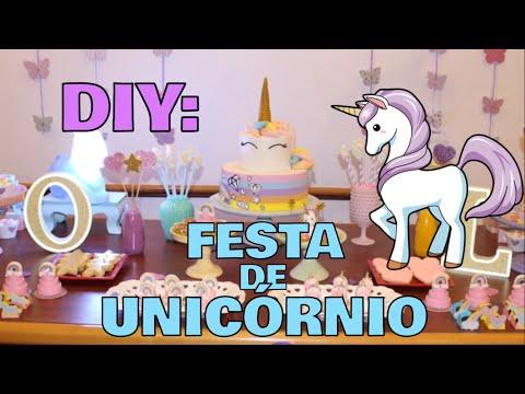 DIY: COMO FAZER UMA FESTA DE UNICÓRNIO EM CASA