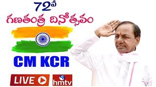 CM KCR LIVE | 72nd Republic Day 2021 Celebrations LIVE in Telangana | hmtv