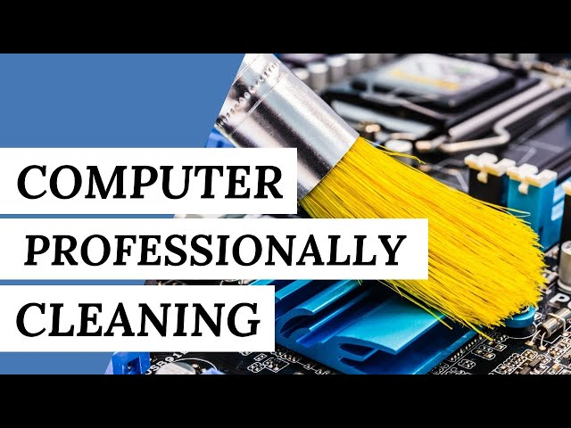 COMPUTER AND EQUIPMENT: How To Clean It Professionally?   Cleaning Tips #short