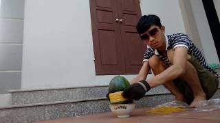PHD | Thử Buộc 1000 Dây Chun Vào Quả Dưa Hấu | Watermelon