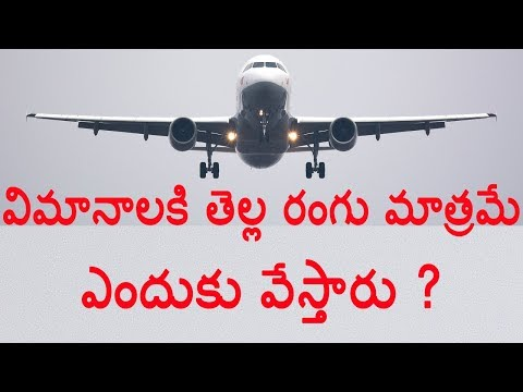 Why Most Planes Are White ? In Telugu | Naveen Mullangi