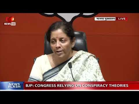 BJP leader Nirmala Sitharaman briefs media at BJP headquarter in New Delhi