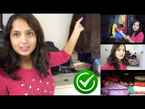 ಬಟ್ಟೆ ಜೋಡಣೆಗೆ ಸಿಂಪಲ್ ಐಡಿಯಾಸ್ | How To Organise Your Wardrobe - Tips, Ideas #KannadaVlog