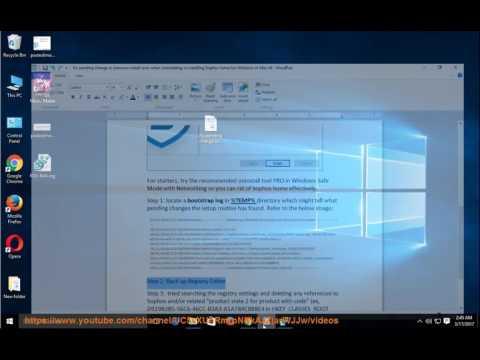 Fix pending changes error when uninstalling/installing Sophos Home for Windows
