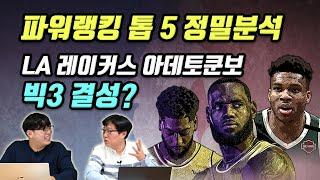 [12월1주 NBA 핫이슈] 파워랭킹 톱 5 전력 정밀분석, LA 레이커스 아데토쿤보 빅3 결성?