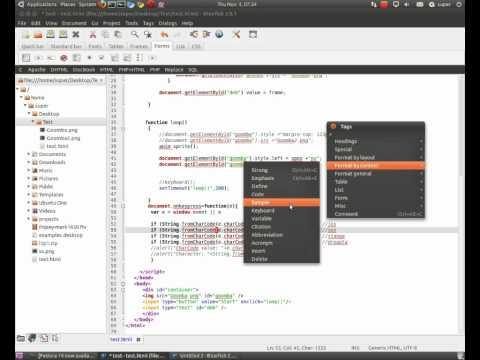 Bluefish 2.0.1 On Ubuntu 10.10 Linux