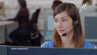 Le spot TV SAXOPRINT – Service client dans votre imprimerie en ligne