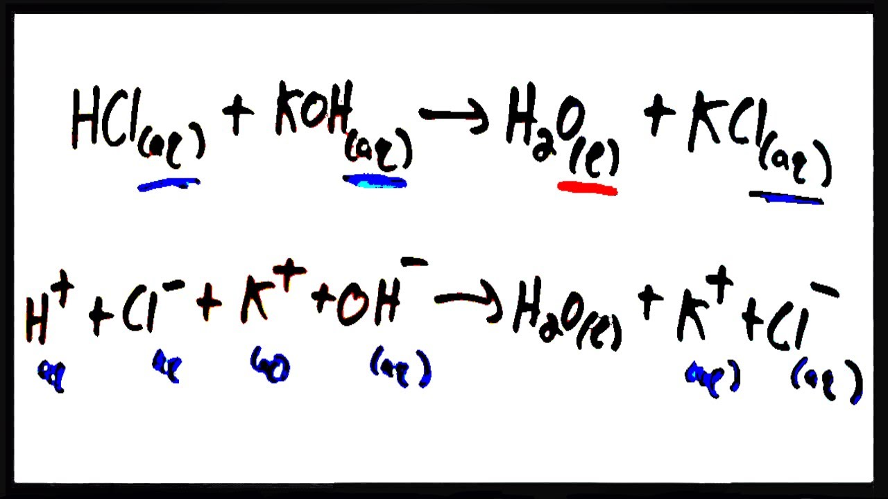 Writing ionic equations (solutions, examples, videos)