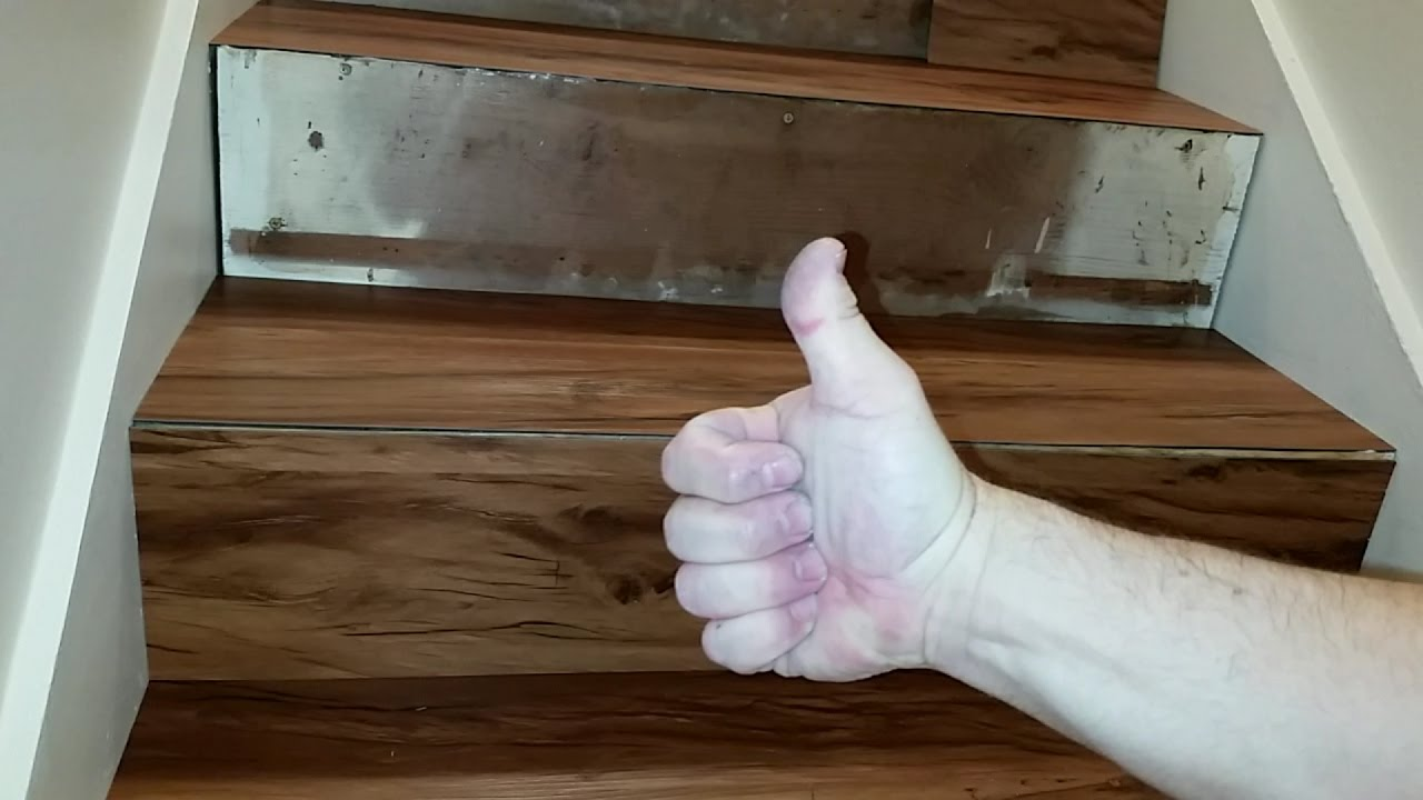 How To Install Lvp Stairs Step By Steps Youtube