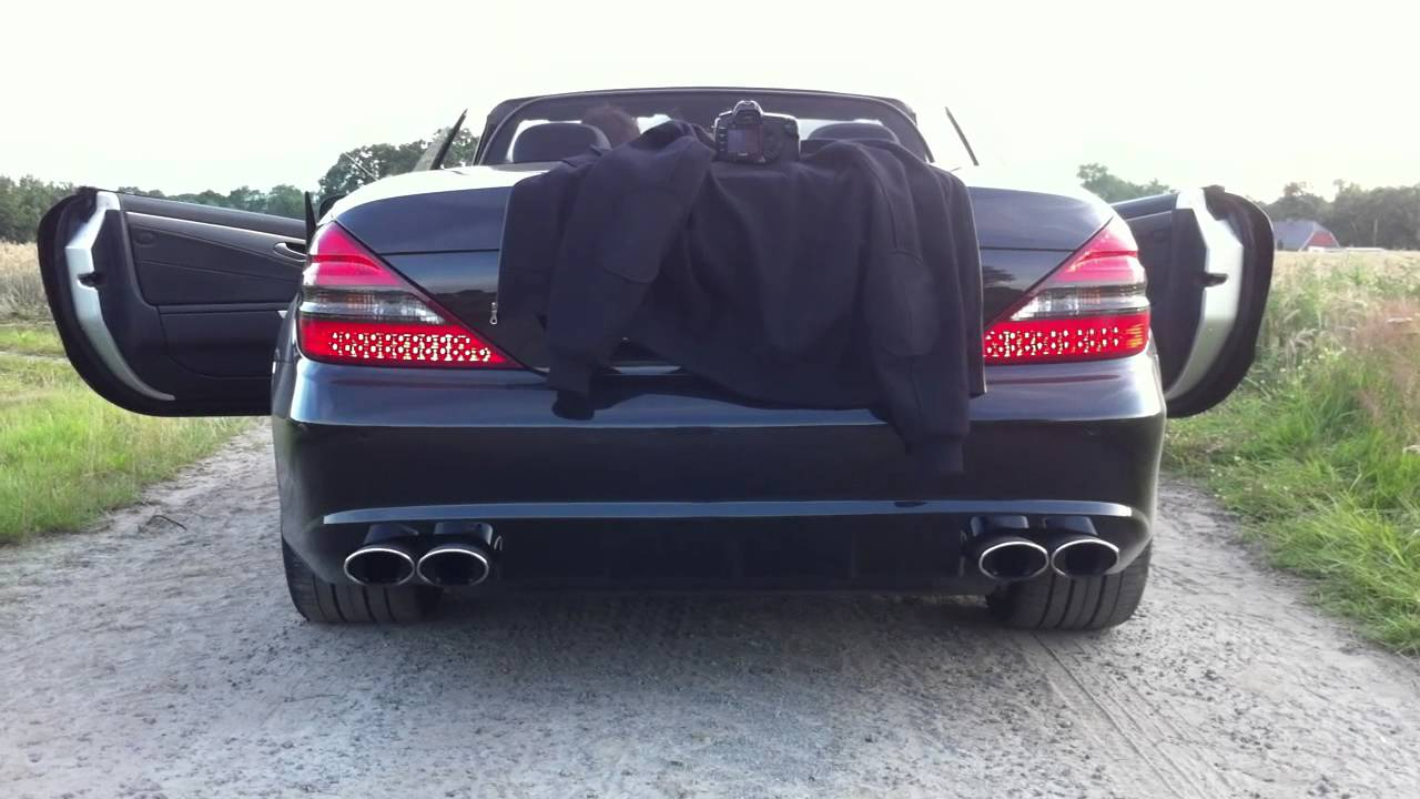 sl 350 r230 mit amg esd exhaust in d sseldorf youtube. Black Bedroom Furniture Sets. Home Design Ideas