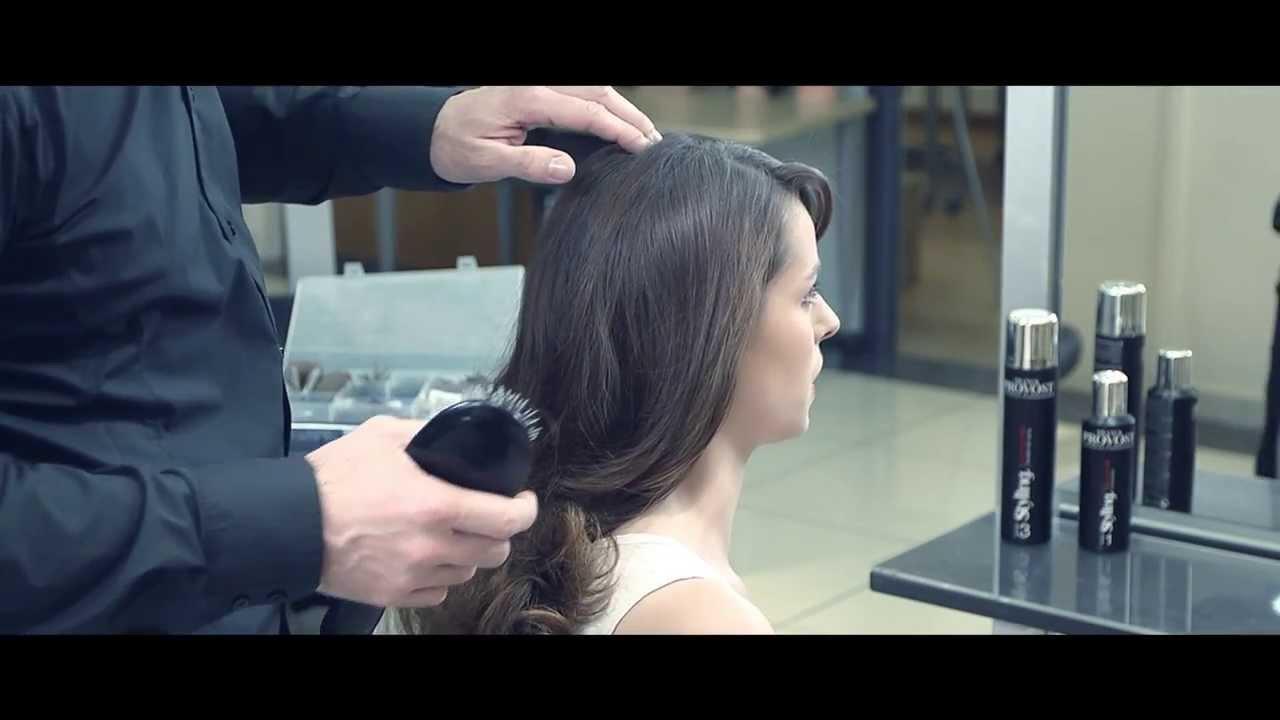 TUTO COIFFURE FEMME • Chignon rock par Franck Provost - YouTube