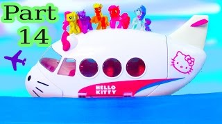 MLP Airplane Airport - Floating In The Ocean - My Little Pony Travel Part 14 Pinkie Pie Series Video