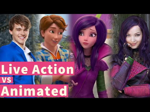 """Descendants"" Animated vs Live Action! #WickedWorld"