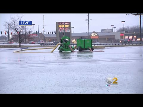 Flooded Roads In Merrillville, Crown Point, Indiana