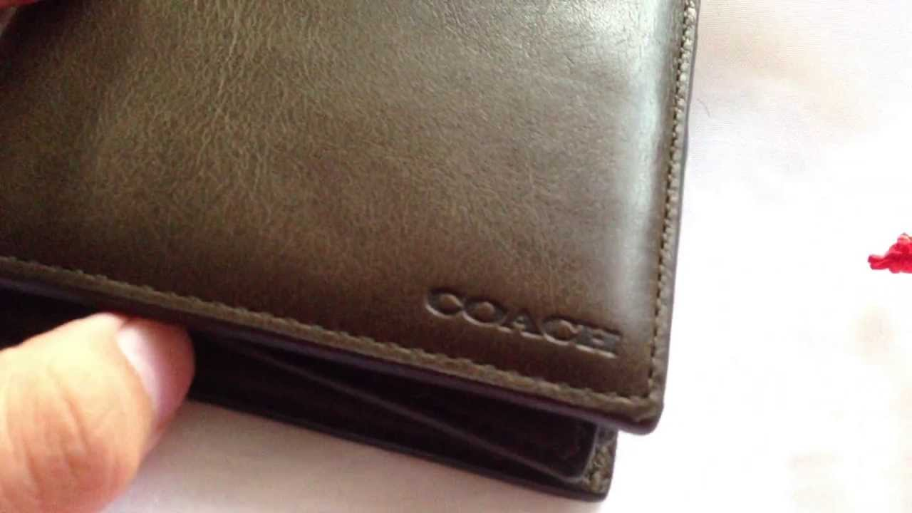 Coach Bleecker Legacy Leather Compact Id Wallet Youtube