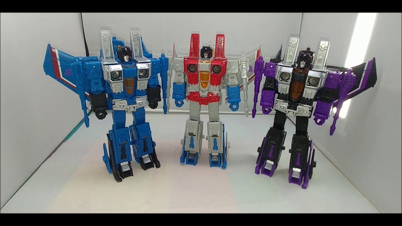 Chuck's Reviews Transformers Earthrise Thundercracker and Skywarp