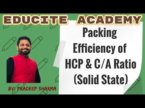 Packing Efficiency of hcp & c/a Ratio