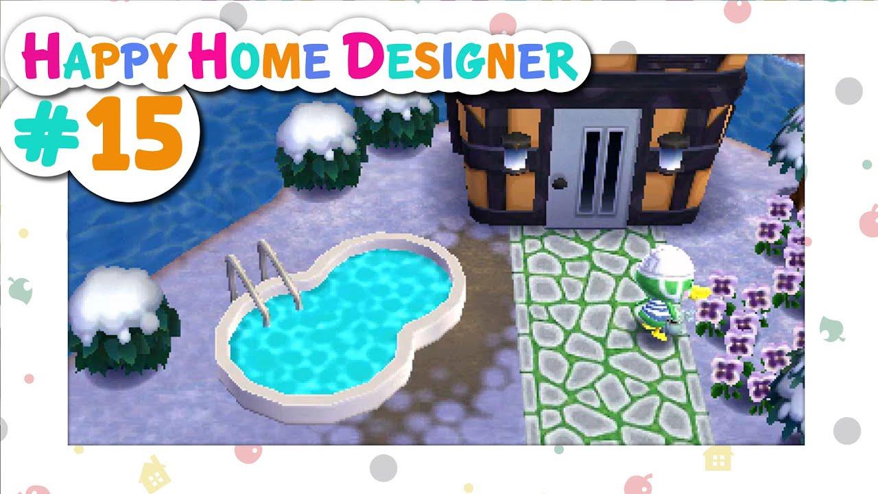 Animal Crossing Happy Home Designer 15 Scoot 39 S Pool Youtube