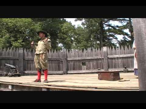 Firing a Cannon at Jamestown